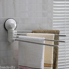 Reusable Vacuum Washable Bathroom Suction Towel Rail Holder Storage Hanger Tool