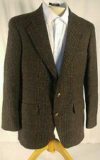 Brown LACROSSE James Store blazer jacket sport coat lambs wool 42