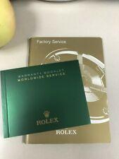 Rolex Factory Service Book and Rolex Warranty Booklet