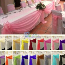 5M Top Sheer Organza Wedding Ceremony Bouquet Arch Stair Table Swags Decorations