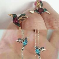 Charm Simulation Hummingbird Stud Earrings Women Drop Dangle Jewelry Wholesale