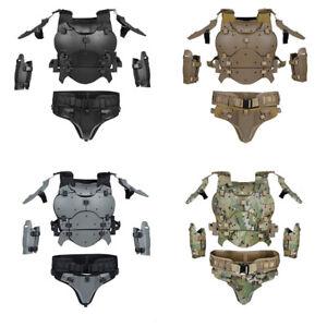1 Set Molle Tactical Armor Vest Protect Chest Elbow Waist Belt Protective Suit