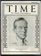 Time Magazine December 27 1926 Alfred Pritchard Sloan Jr. high grade