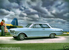 1962 Chevrolet Chevy II Nova 400 Sport Coupe Press 8 x 10 Photograph