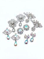 Rhinestone Diamante Gem Embellishment Wedding Invites Hair Garment Clothing UK