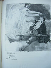 VINTAGE WWI PRINT - ON THE FIELD OF HONOUR - KING ALBERT'S BOOK 1914