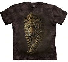 Leopard Savage Tiger King Spotted Big Cat Wild Cotton Brown Mountain Shirt S-5Xl
