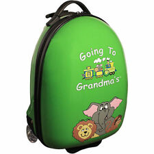 "MERCURY LUGGAGE KIDS' GOING TO GRANDMA'S 18"" WHEELED HARDSHELL SUITCASE Green"