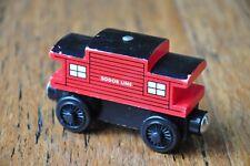 BRITT ALLCROFT THOMAS Tank TRAIN SET Wooden Railway Engine Carriage RED CABOOSE