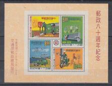 Railway - Locomotives China Taiwan Block 18 (MNH)