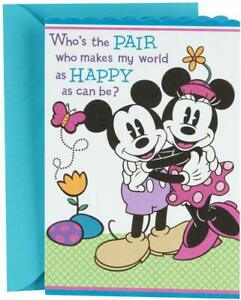 Hallmark Disney Easter Card for Grandparents from Kids (Mickey Mouse and Minnie)