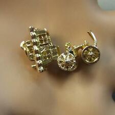 9 ct gold second hand opening gipsy caravan charm