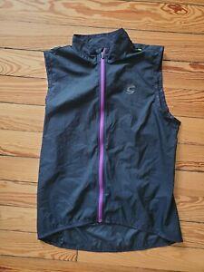 Cannondale Womens Pack Me Lightweight Vest, Black w Purple Full Zip, MEDIUM