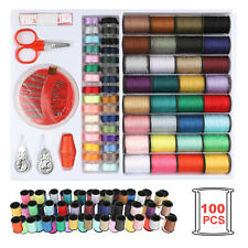 100PCS/Set Assorted Colorful Polyester Sewing Thread Spools Bobbin Needle Tapes