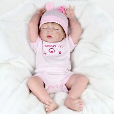 Reborn Girl Doll 22'' Handmade Lifelike Baby Full Body Silicone Vinyl Newborn