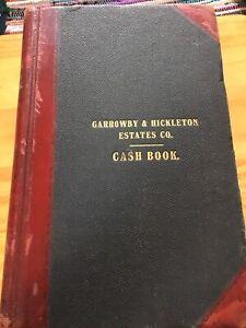 Antique Ledger 1930s-50s  Lord Halifax Garrowby Hickleton Estates Cash Book York