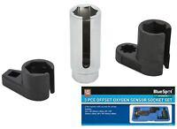 """BlueSpot 3pc Oxygen Lambda Sensor Deep Socket Set 3/8"""" & 1/2"""" Drive 22mm (7/8"""")"""