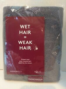 """NEW In Package Madison Reed Aquis Hair Towel 16"""" x 39"""" Quick Drying Reduce Frizz"""