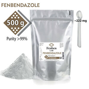 Fenbendazol 500g Powder >99% Purity Fenben Lab, Third-Party Test Results, 1.1Lbs
