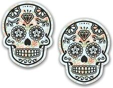 2 pezzi 70X55MM Messicano DAY OF THE DEAD ZUCCHERO TESCHIO BLU SHABBY CHIC