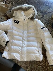 Bogner Fire and Ice women 600 down ski jacket With Fur Detachable Hood Size 10