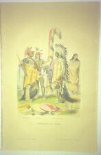 Amérique du Nord Chef Pani Mandane Assiniboine GRAVURE par PHILIPPOTEAUX XIXéme