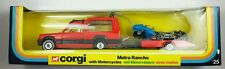 NEW Vintage Corgi 25 MATRA RANCHO with MOTORCYCLES on TRAILER