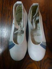ELEFANTEN Kinder Schuhe Ballerinas Gr. 26 Weiß Leder 80er True Vintage 80s