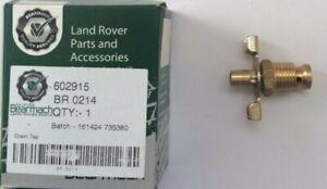 Bearmach Land Rover Series 2 & 3 Cylinder Block & Radiator Drain Tap - BR214