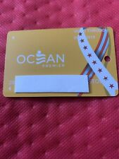 New ListingOcean Resort Casino Gold Players Card With Veterans Logo No Manufacturers #