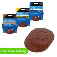 Hook and Loop 125mm Sanding Discs, Random Orbital Circular Sandpaper Pads