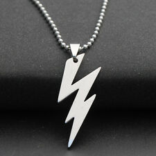 Classic Flash Stainless steel necklace Pendants For Boys Girls Pretty Jewellery