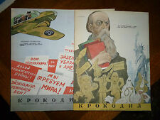 KROKODIL rivista satirica Russia  Russian satirical magazine illustrata 1951
