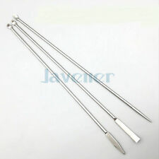 Set 3pcs Length 22cm Stainless Steel Microscale Medicinal Spoon Pharmacy