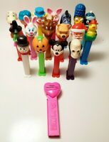 Lot of 18 Pez Dispensers Peanuts Holiday Simpsons Disney Clown