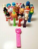 Lot of 18 Pez Dispensers Peanuts Holiday Simpsons Disney Clown