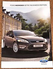 2012 FORD MONDEO ZETEC BUSINESS EDITION Sales Brochure - 5dr & Estate