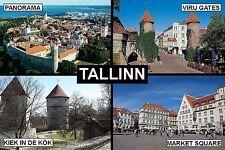 SOUVENIR FRIDGE MAGNET of TALLINN ESTONIA