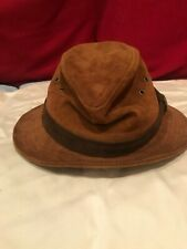 goorin bros suede hat size small - rust color