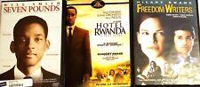 Seven Pounds / Freedom Writers / Hotel Rwanda Dvd Lot