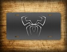 Spiderman Silver License Plate Superhero Spider Web Auto Tag Peter Parker Marvel