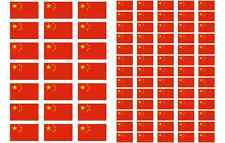 China Flag Stickers rectangular 21 or 65 per sheet