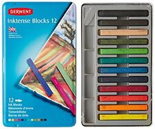 Derwent Inktense Blocks, 4mm Core, Metal Tin, 12 Count (2300442) , New, Free Shi