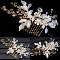Or cristal fleur bijoux Festival cadeau mariée épingles mariage cheveux clip*tr