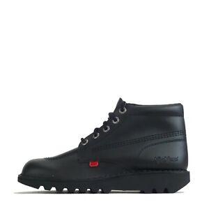 Kickers Men's Kick Hi Boots Lace Up Shoes Black Leather