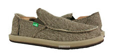 Sanuk Vagabond Mesh Brown Sidewalk Surfer Shoes Mens Size 9 *NEW*