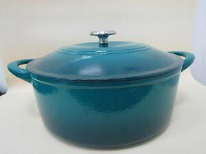 Tramontina Blue Enameled Cast Iron Dutch Oven