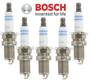 For Volvo Toyota Geo Suzuki Dodge Chevy Set of 5 Spark Plugs Bosch Platinum 6730