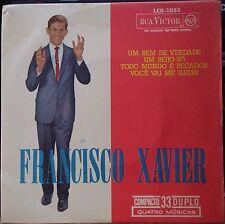 """FRANCISCO XAVIER 1964 Bossa Nova Samba Jazz P/S EP 7"""" BRAZIL 45 HEAR"""