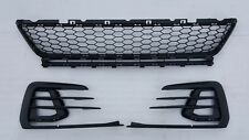VW GOLF 7.5 GTI GTD 17-18 GENUINE FRONT BUMPER CENTRE GRILL FOGLIGHT TRIM SET